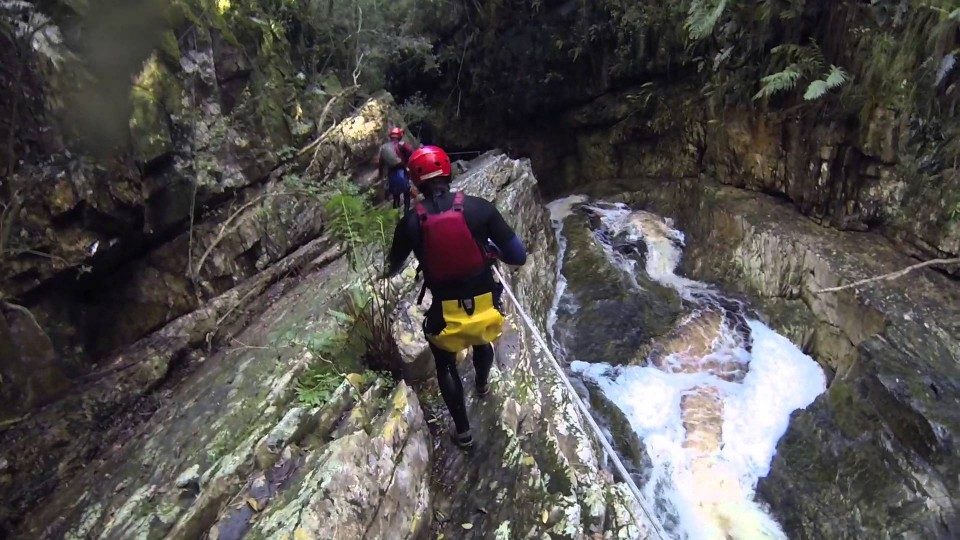 Canyoning in Plett Kloofing