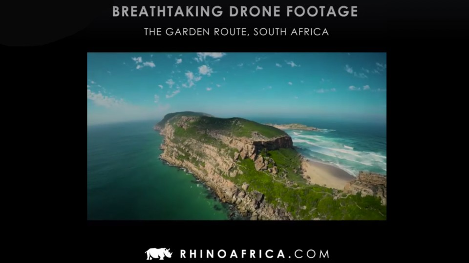 Breathtaking drone footage around Plett